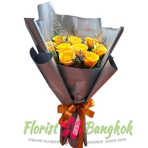 10 Premium Yellow Roses - Florist-Bangkok