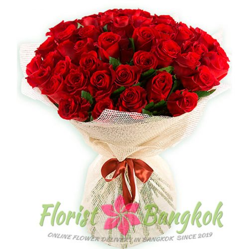 50 Red Roses from Florist-Bangkok - Online Flower Delivery Bangkok