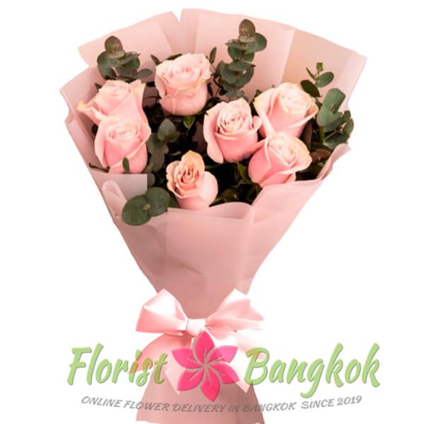 7 Pink Roses from Florist-Bangkok - Online Flower Delivery Bangkok