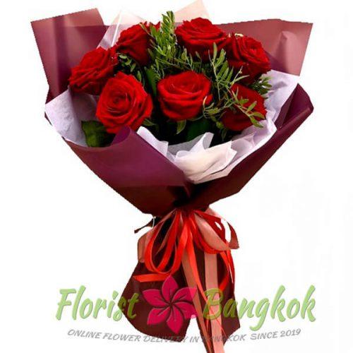 7 Red Roses from Florist-Bangkok - Online Flower Delivery Bangkok 2