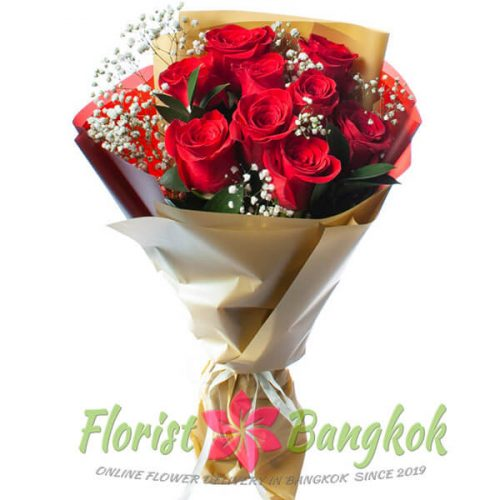 9 Red Roses from Florist-Bangkok - Online Flower Delivery Bangkok