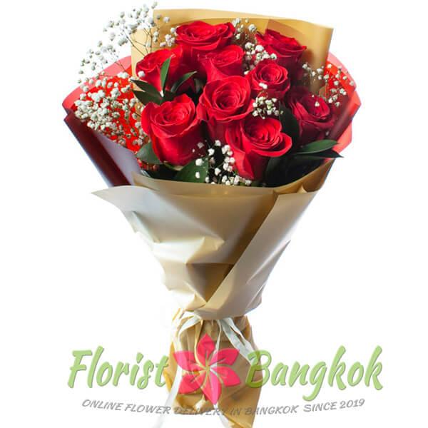 9 Red Roses from Florist-Bangkok - Online Flower Delivery Bangkok