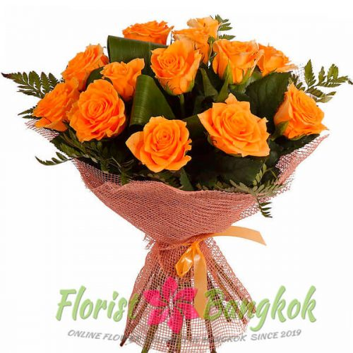 2 Orange Roses from Florist-Bangkok - Online Flower Delivery Bangkok