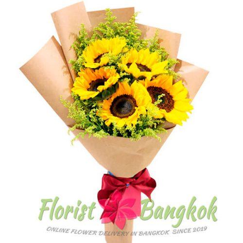 5 Sunflowers from Florist-Bangkok - Online Flower Delivery Bangkok