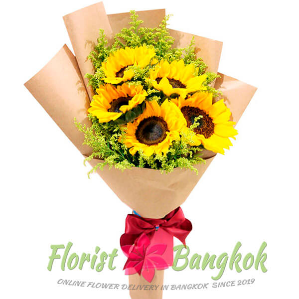 5 Sunflowers from Florist-Bangkok - Online Flower Delivery Bangkok