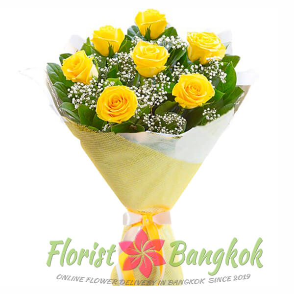 7 Yellow Roses from Florist-Bangkok - Online Flower Delivery Bangkok