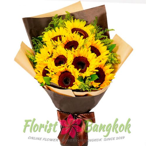 10 Sunflowers from Florist-Bangkok - Online Flower Delivery Bangkok