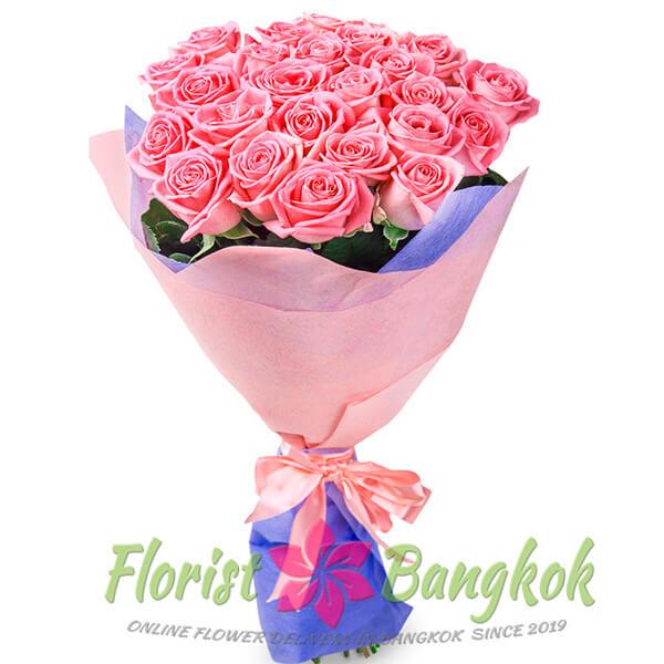 30 Pink Roses from Florist-Bangkok - Online Flower Delivery Bangkok