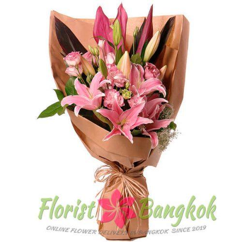 Pink Lilies from Florist-Bangkok - Online Flower Delivery Bangkok