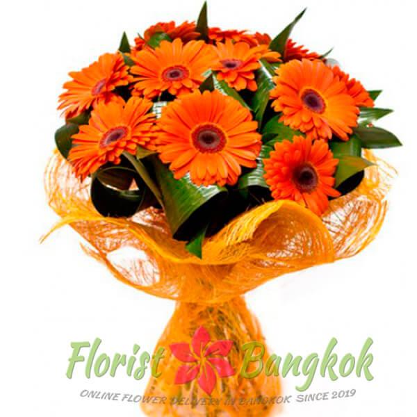 10 Orange Gerberas from Florist-Bangkok - Online Flower Delivery Bangkok