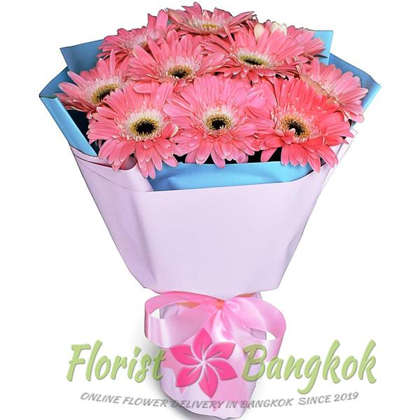 10 Pink Gerberas from Florist-Bangkok - Online Flower Delivery Bangkok